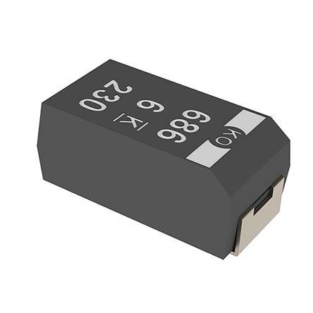 KEMET Tantalum Capacitor 330μF 10V dc Polymer Solid ±20% Tolerance , T525 (500)