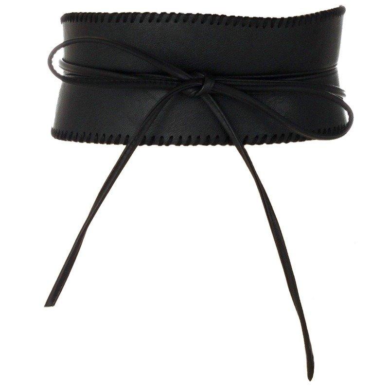 PU Leather Designer Wide Corset Cummerbunds Strap Belts High Waist Slimming Girdle Belt