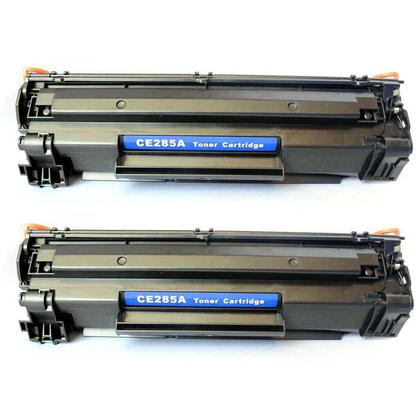 Compatible HP 85A CE285A Black Toner Cartridge - Economical Box - 2/Pack