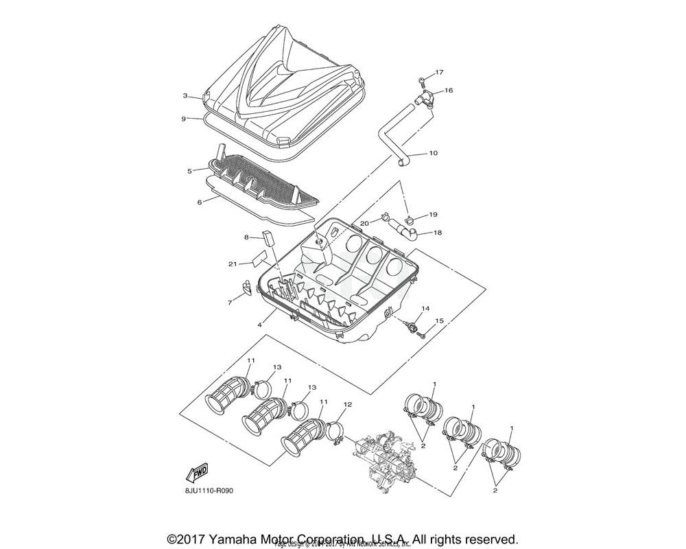 Yamaha OEM 90450-56010-00 HOSE CLAMP ASSY
