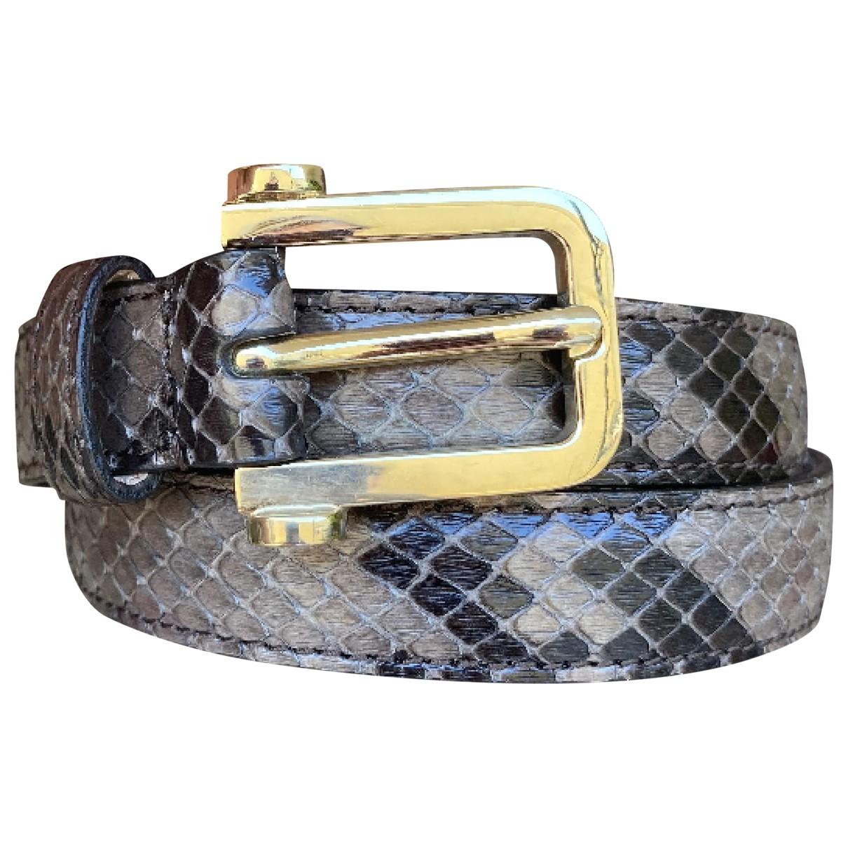 Tod's \N Grey Python belt for Women 90 cm