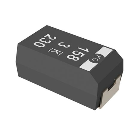 KEMET Tantalum Capacitor 220μF 10V dc Electrolytic Solid ±20% Tolerance , T530 (500)