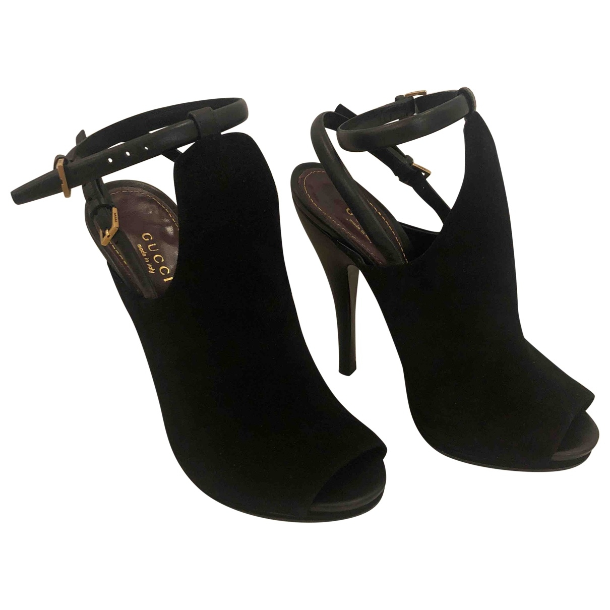 Gucci \N Black Suede Heels for Women 37 EU