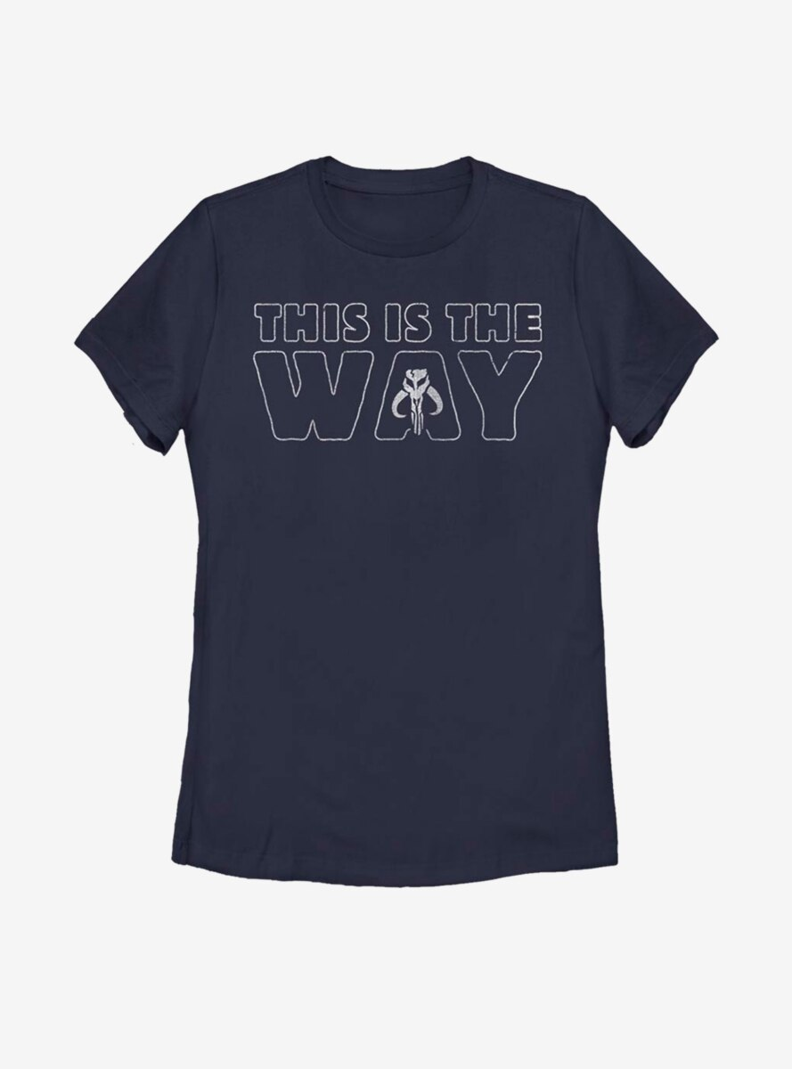 Star Wars The Mandalorian This Is The Way Outline Womens T-Shirt