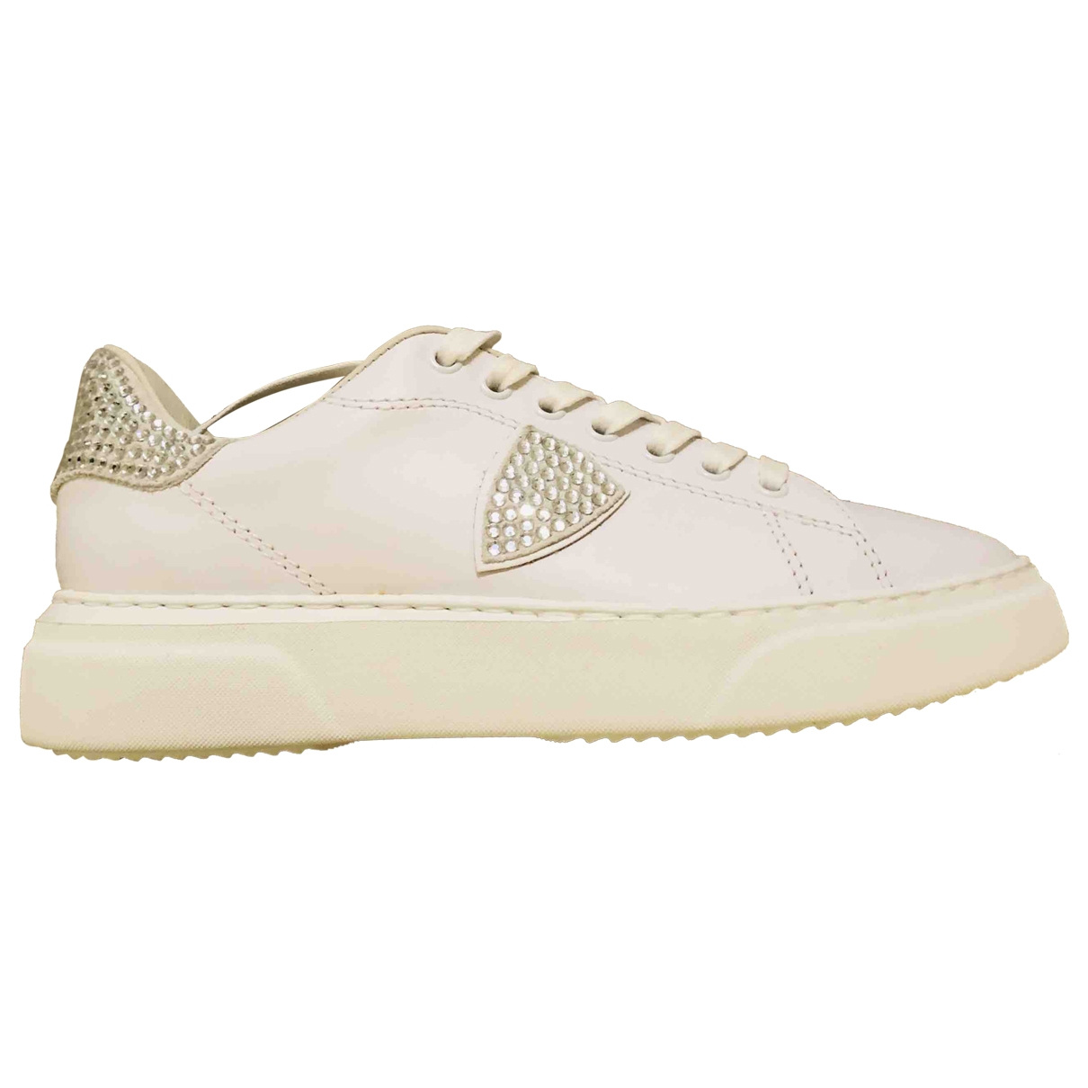 Philippe Model \N White Leather Trainers for Women 38 IT