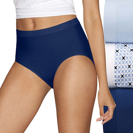 Hanes Ultimate Constant Comfort X-Temp 3 Pack Knit Brief Panty 40xtb5, 5 , Blue
