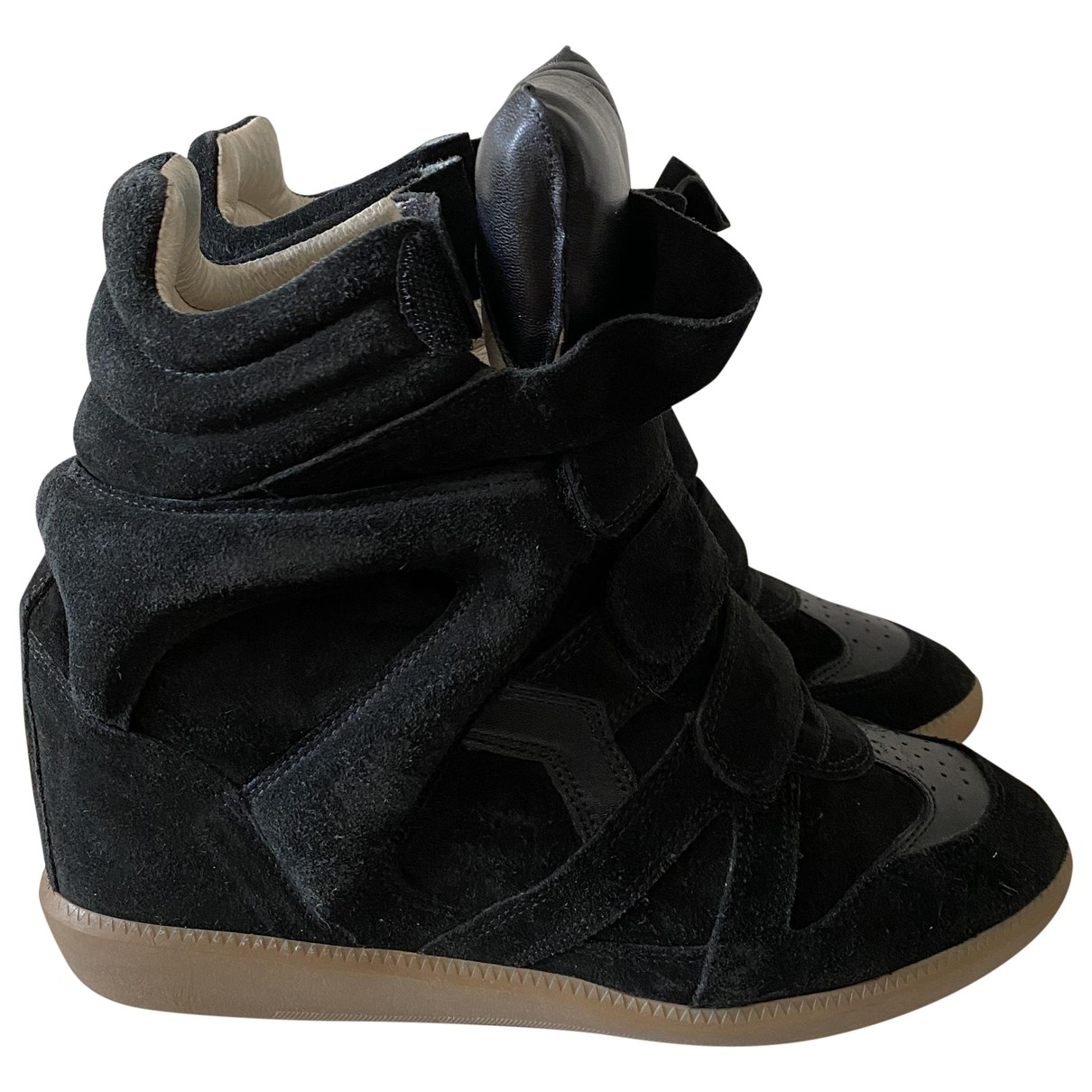 Isabel Marant Beckett Black Suede Trainers for Women 40 EU