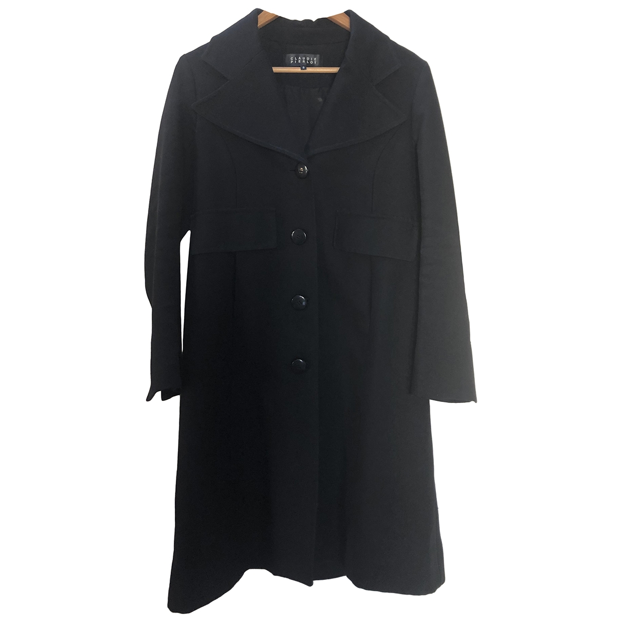 Claudie Pierlot \N Black Cotton coat for Women 2 0-5