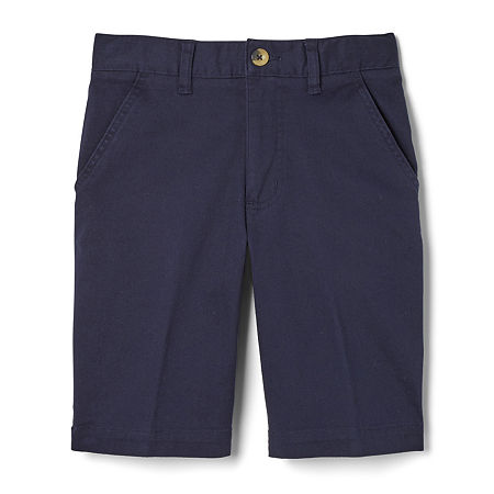 French Toast Big Boys Adjustable Waist Chino Short, 18 Husky , Blue
