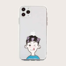 Boy Print Transparent iPhone Case