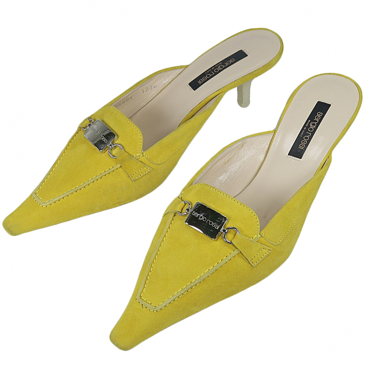 Sergio Rossi \N Yellow Suede Sandals for Women 39.5 EU