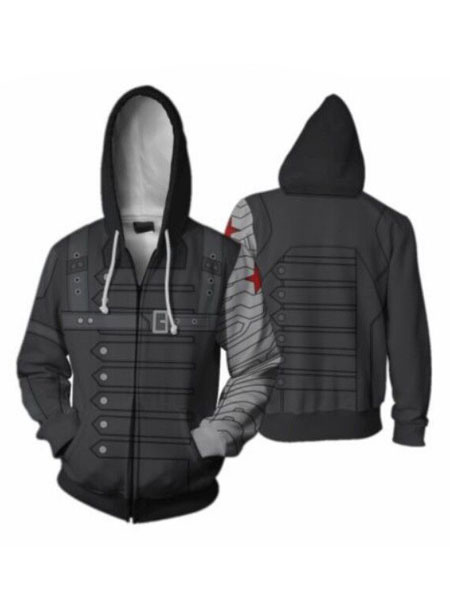 Milanoo Marvel Comics Winter Soldier Halloween Cosplay Hoodie