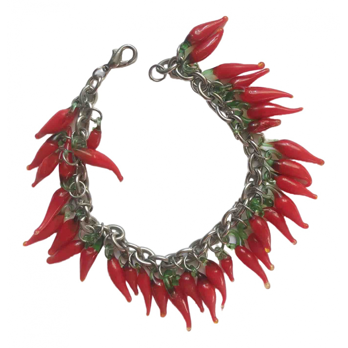 Non Signé / Unsigned \N Red Glass bracelet for Women \N