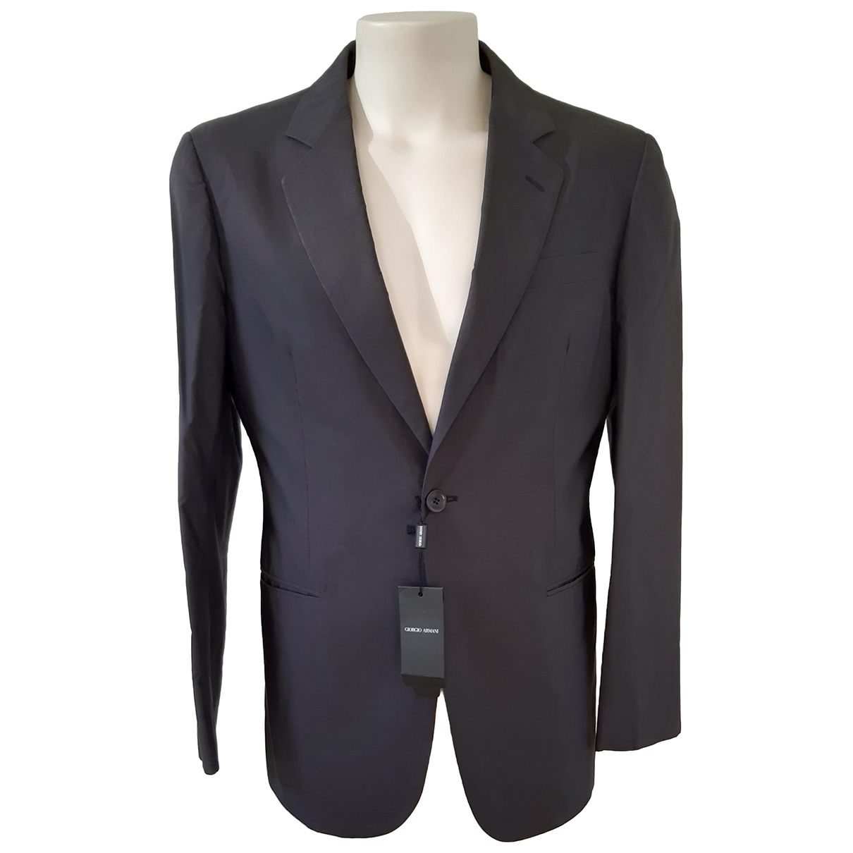 Giorgio Armani \N Anthracite Cotton jacket  for Men 50 IT