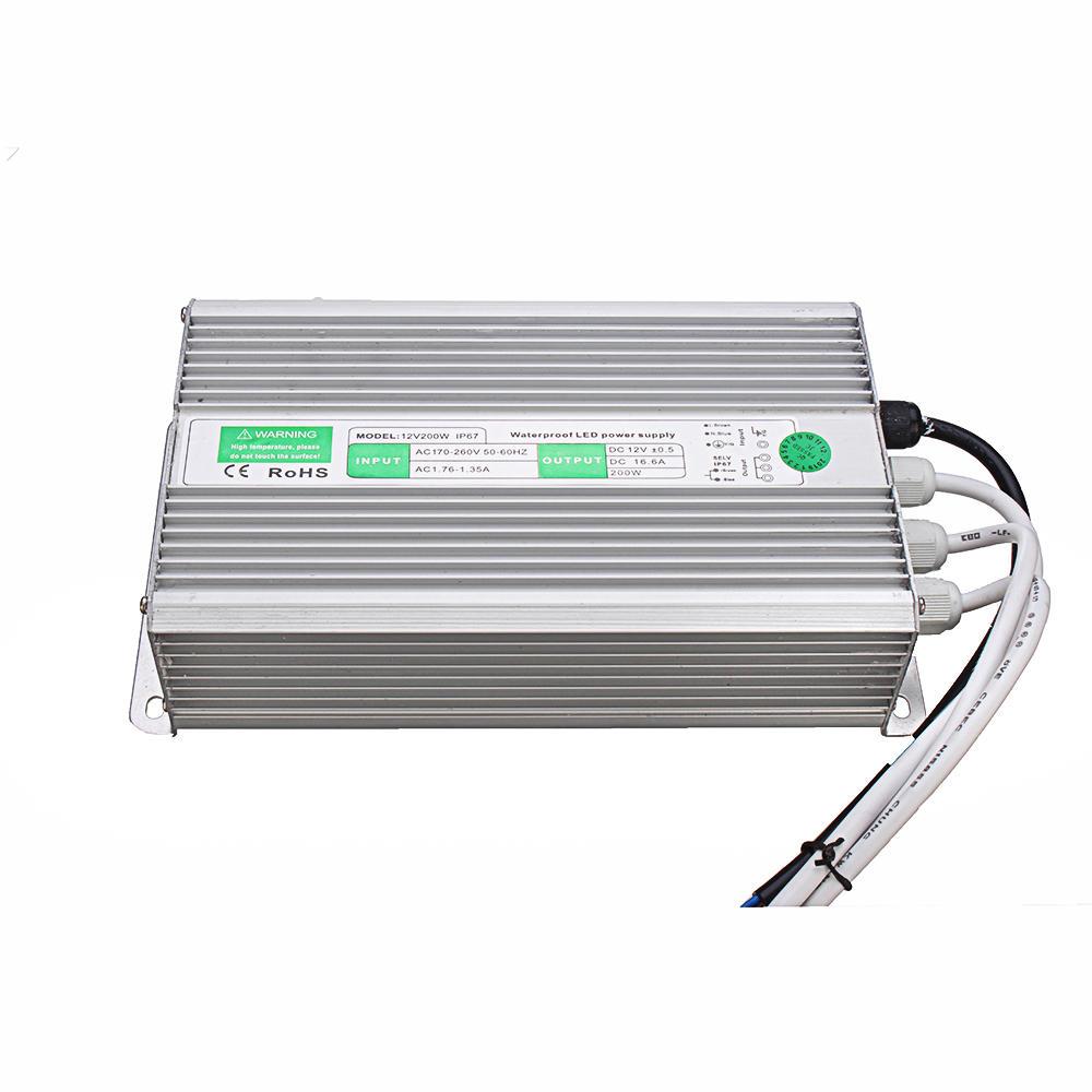 AC110V-240V to DC12V 200W Waterproof Switching Power Supply 235*126*52mm