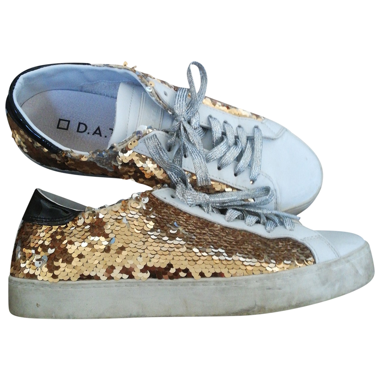 Non Signé / Unsigned \N White Leather Trainers for Women 38 EU