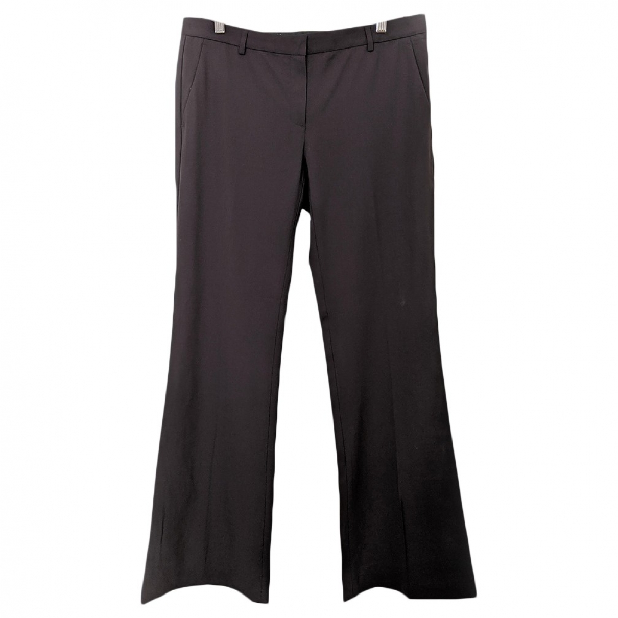 Theory \N Brown Wool Trousers for Women 10 US