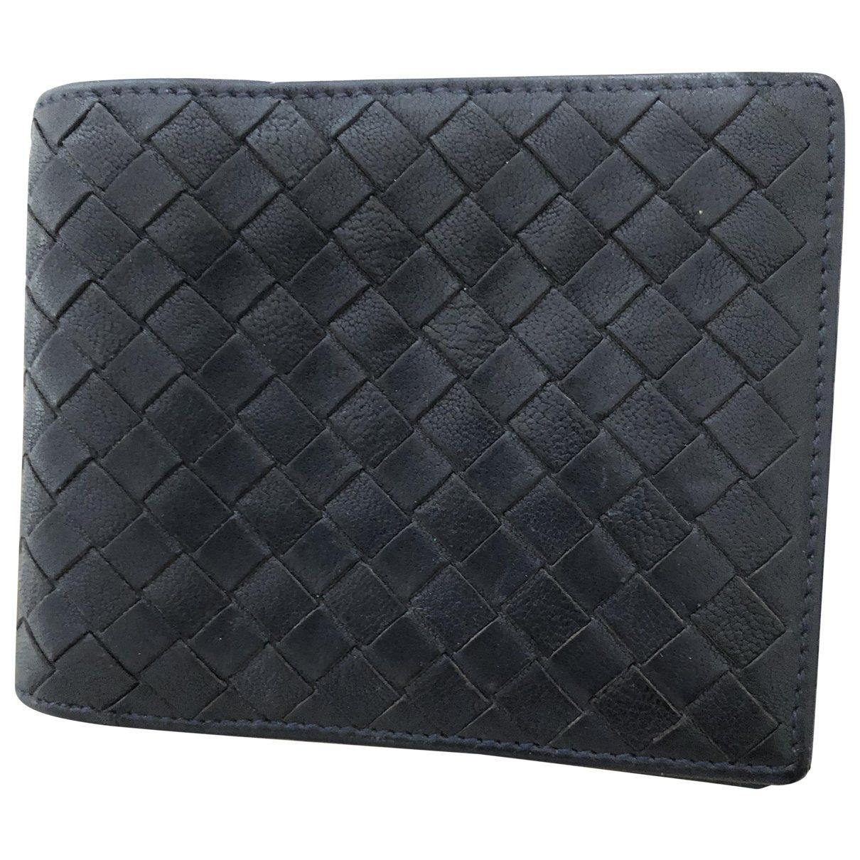 Bottega Veneta \N Blue Leather Small bag, wallet & cases for Men \N