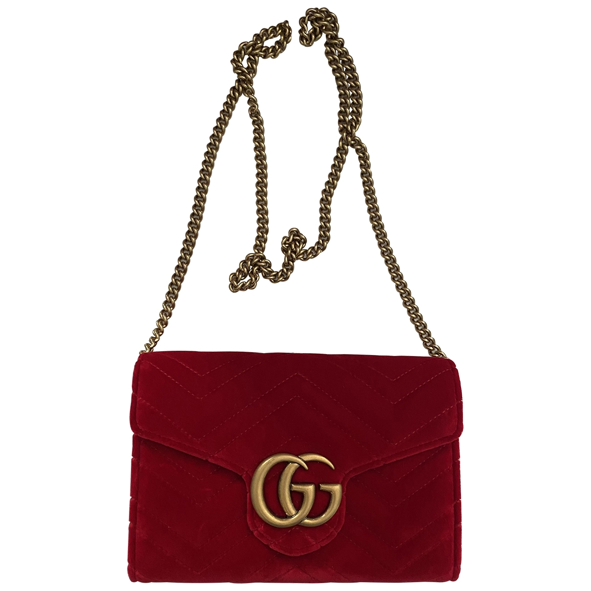Gucci Marmont Red Velvet handbag for Women \N