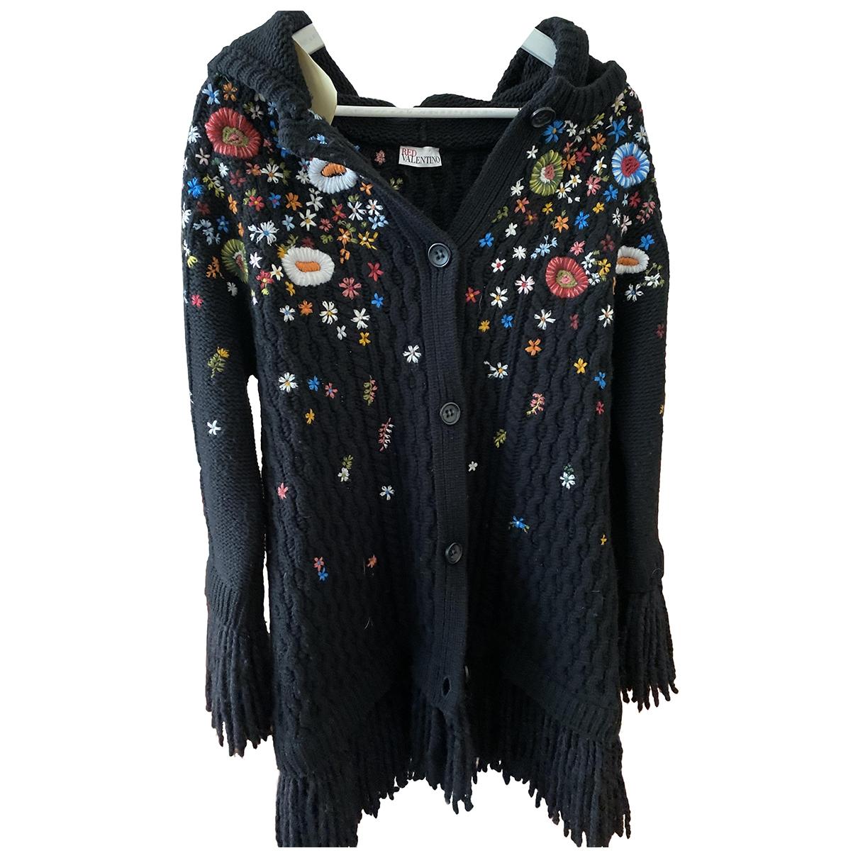 Red Valentino Garavani \N Black Wool coat for Women XS International