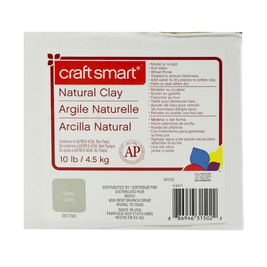Craft Smart® Natural Clay in Gray | 10 lb | Michaels®