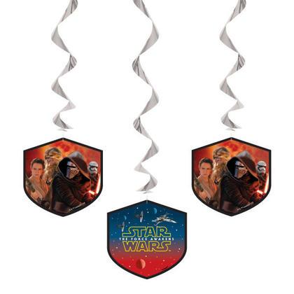 Star Wars EP. VII 3 Hanging Swirl Decorations 26