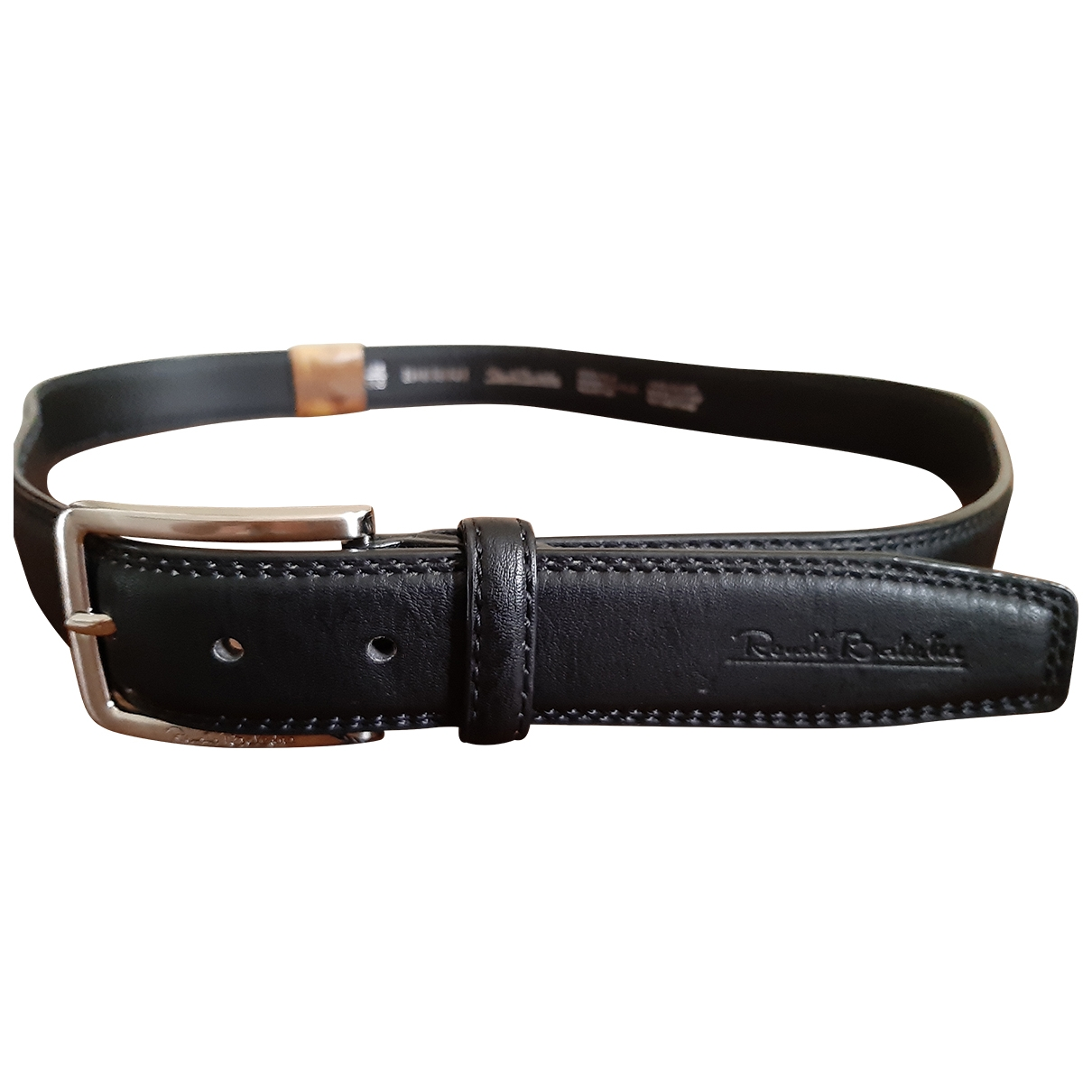 Non Signé / Unsigned \N Black Leather belt for Men 100 cm