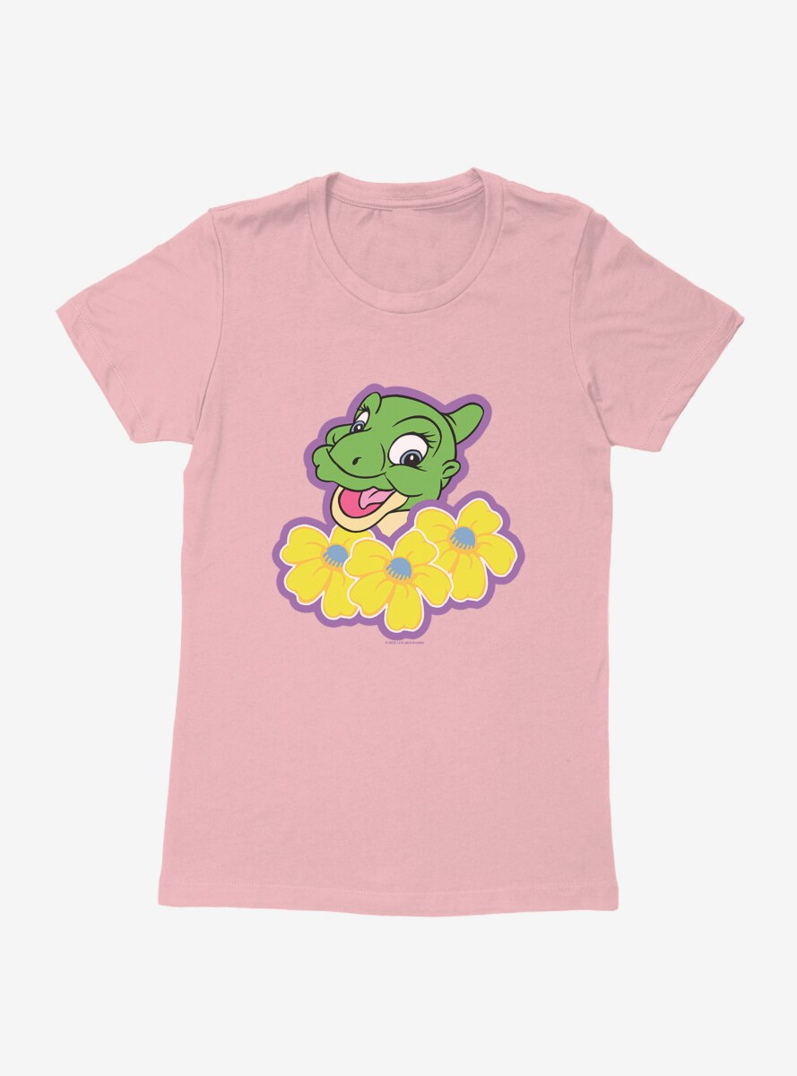 The Land Before Time Ducky Flowers Womens T-Shirt