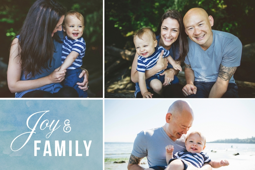 Holiday 20x30 Adhesive Poster, Home Décor -Joy And Family