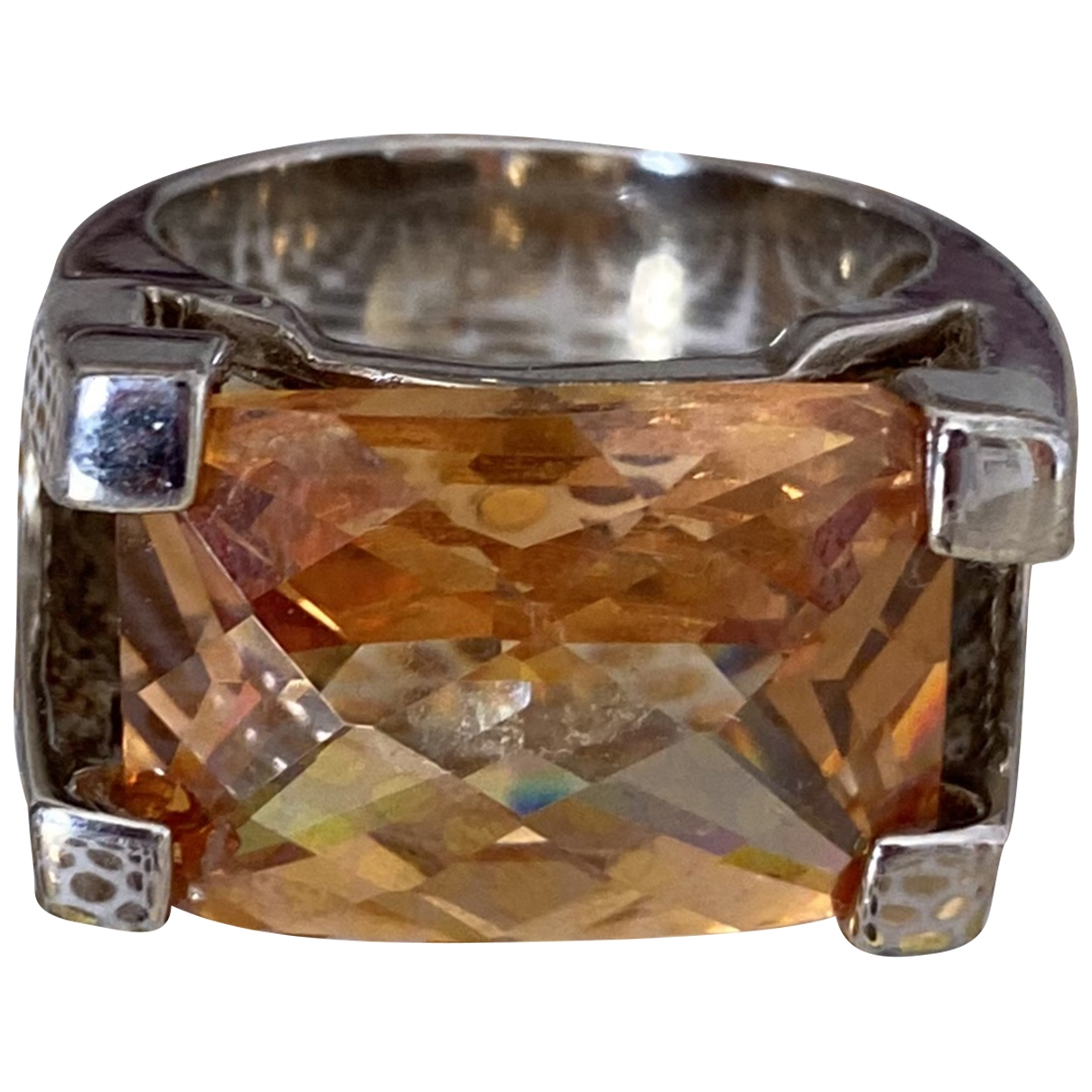 Non Signé / Unsigned Jonc Orange Crystal ring for Women 60 EU