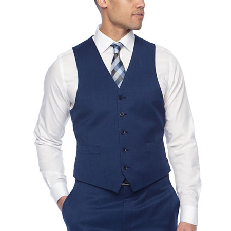 Collection by Michael Strahan Mens Stretch Classic Fit Suit Vest, Small , Blue