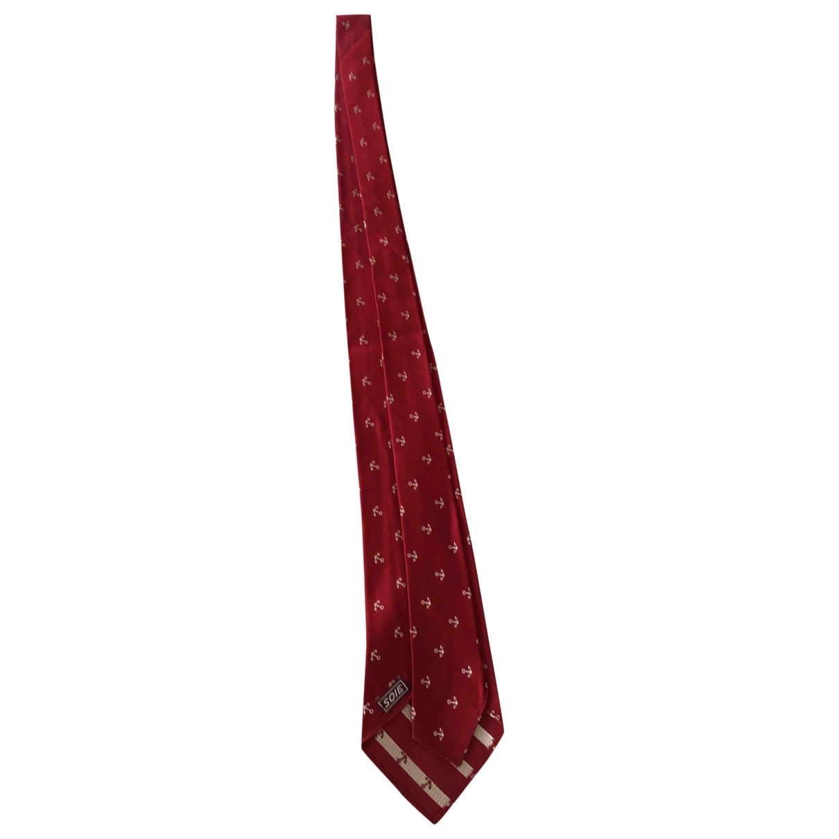 Non Signé / Unsigned \N Red Silk Ties for Men \N
