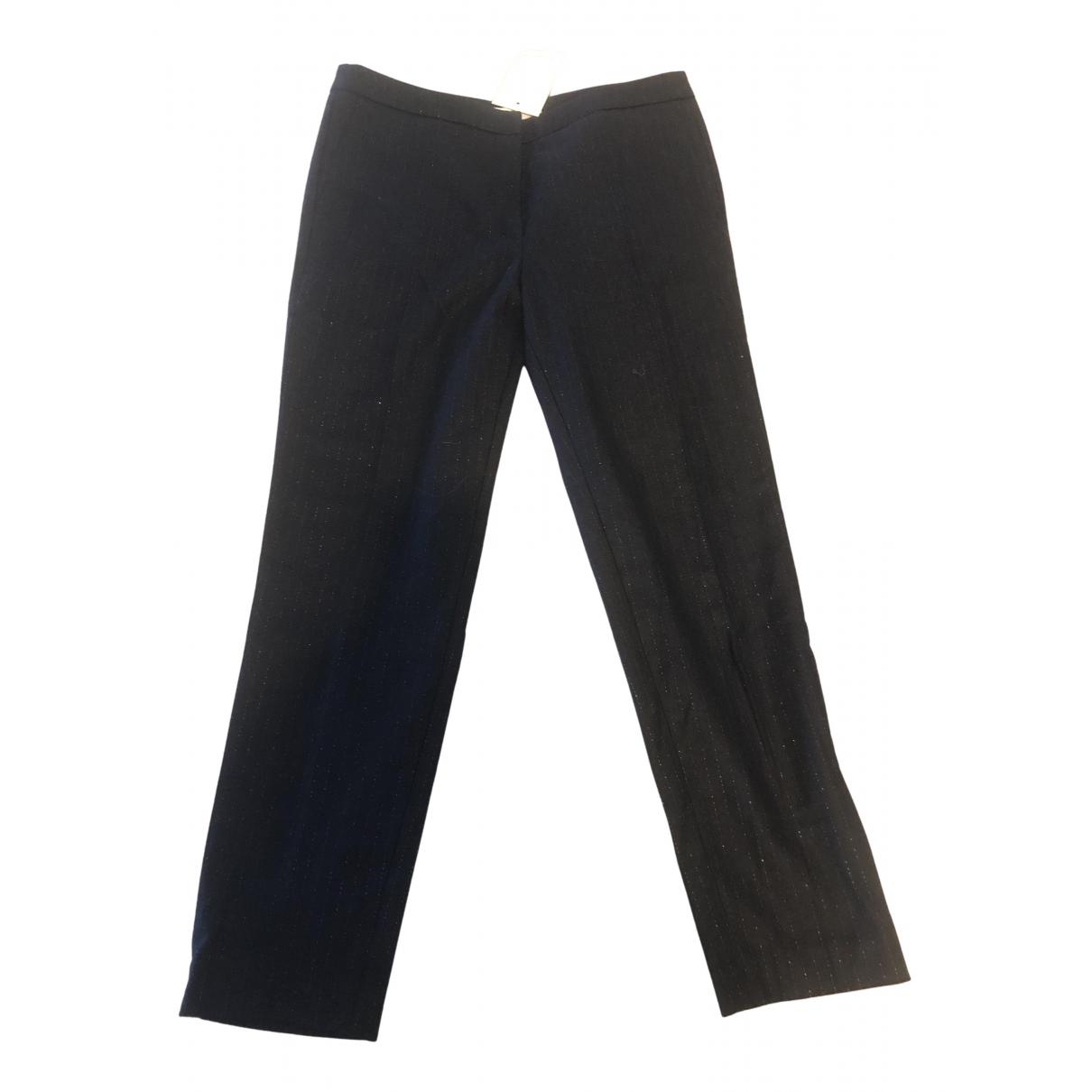 Sandro Fall Winter 2019 Blue Trousers for Women 40 FR