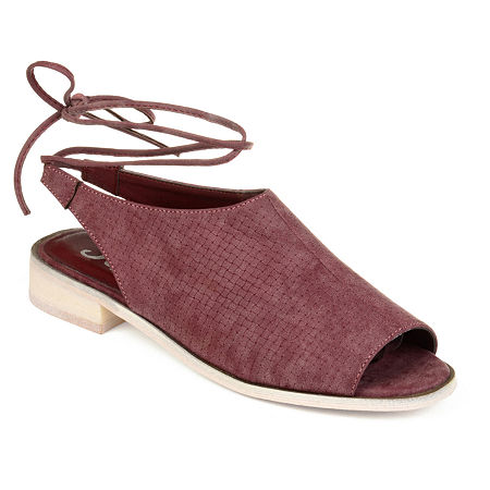 Journee Collection Womens Blanch Open Toe Slip-On Shoe, 11 Medium, Purple