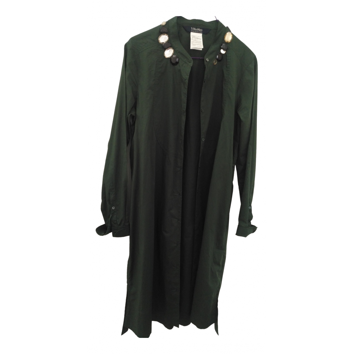 Max Mara 's \N Green Cotton dress for Women 46 IT