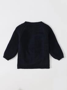 Toddler Girl Popcorn Knit Sweater