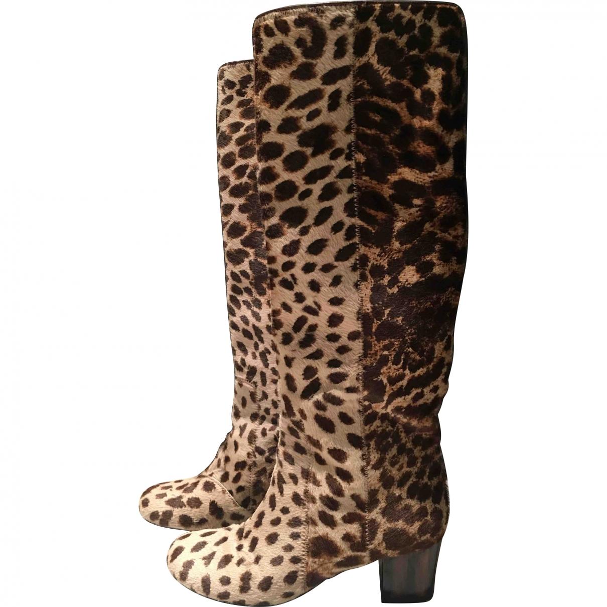 Lanvin \N Brown Pony-style calfskin Boots for Women 37 EU