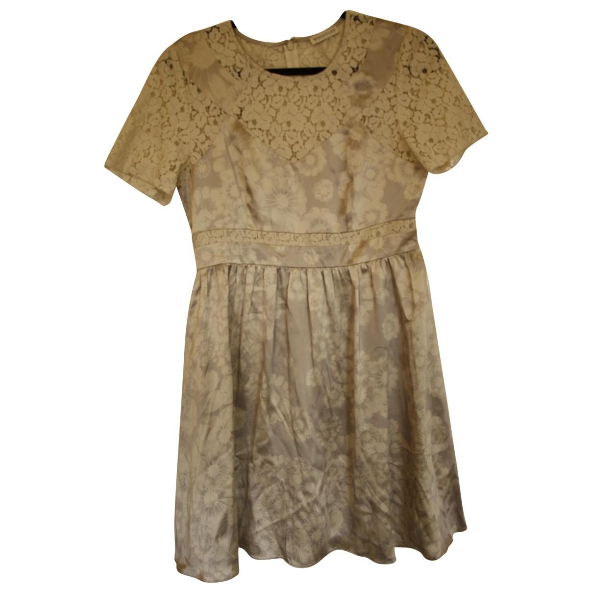 Whistles \N White Silk dress for Women 12 UK