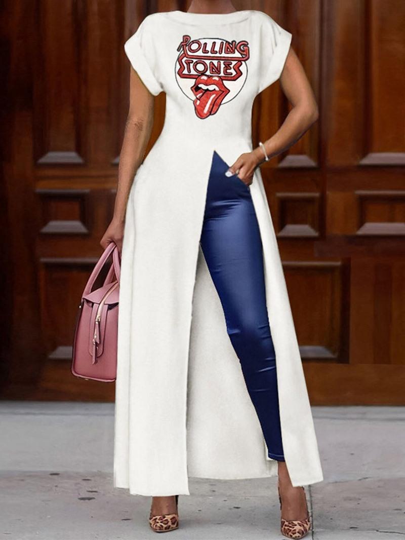 Ericdress Long Short Sleeve Round Neck Fall Fashion T-Shirt