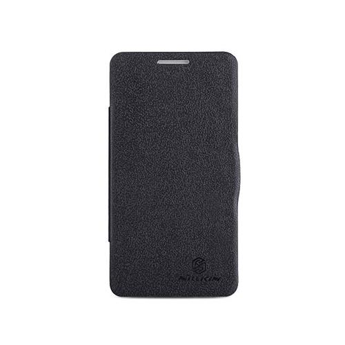 Nillkin Fresh Series PolyCarbonate Flip Stand Leather Case for Lenovo P780 - Black