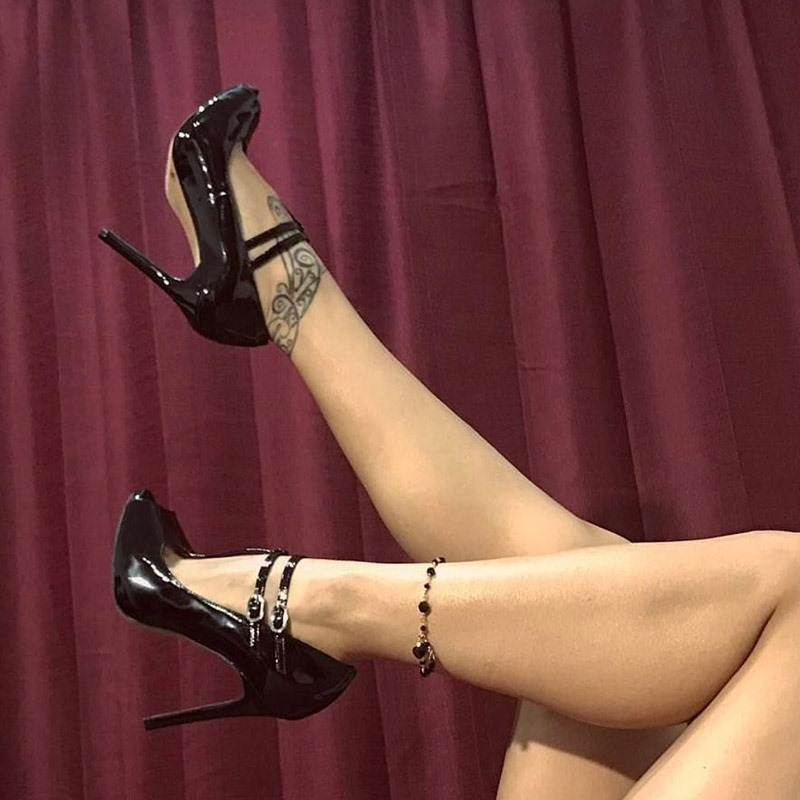 Ericdress Line-Style Buckle Stiletto Heel Women's Pumps