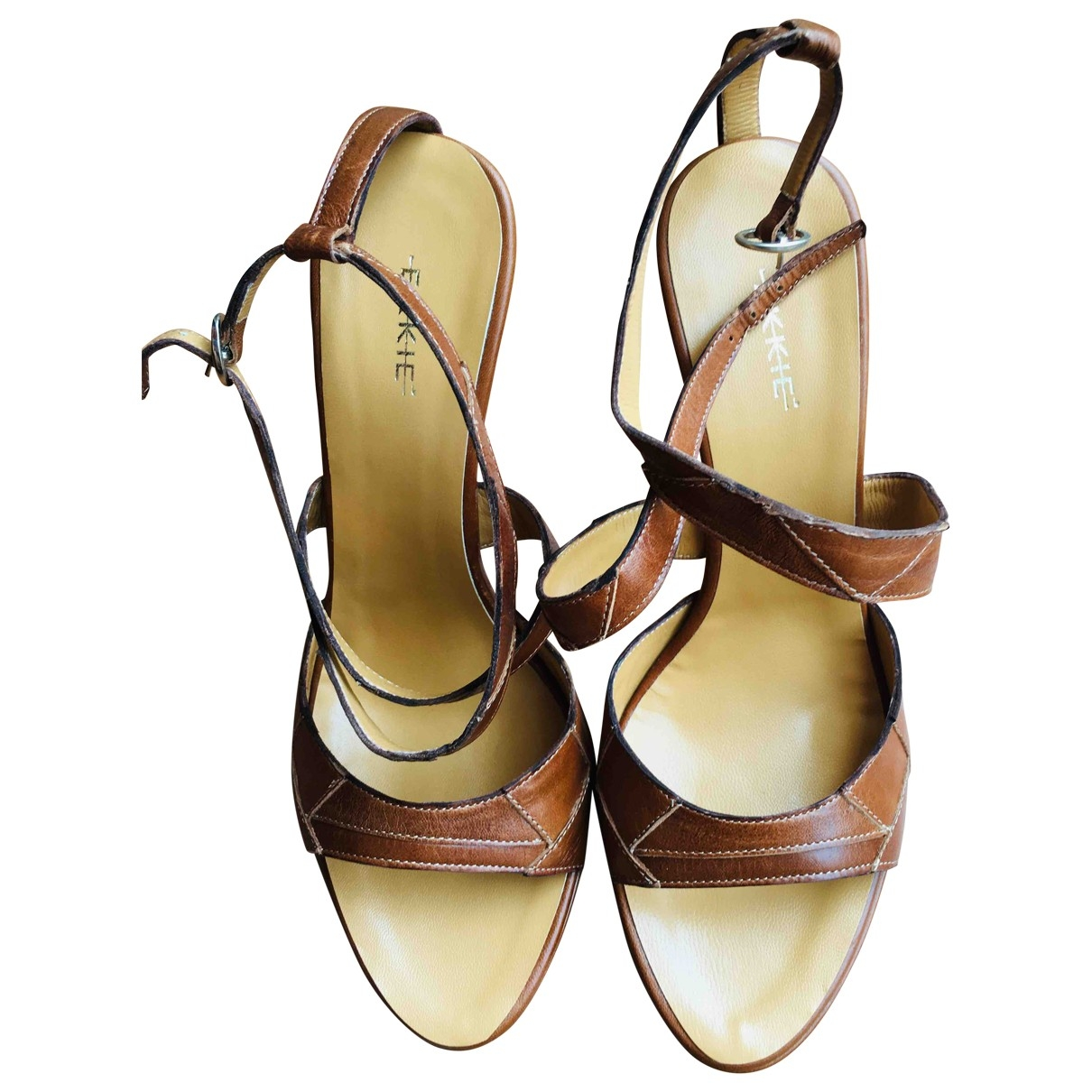 Non Signé / Unsigned \N Brown Leather Sandals for Women 40 EU