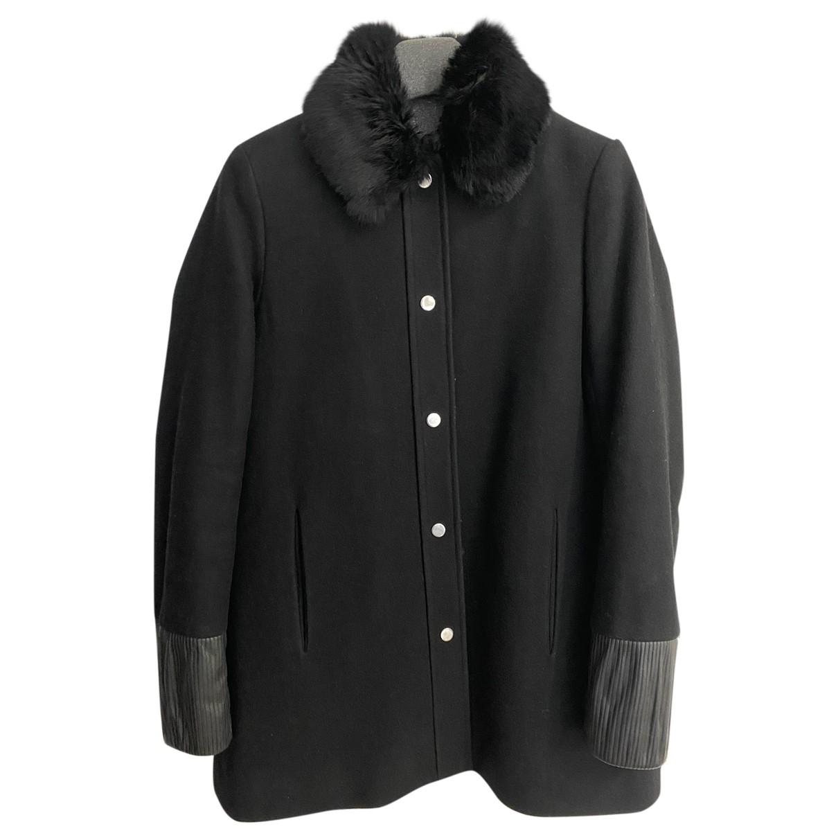 Maje \N Black Wool coat for Women 36 FR