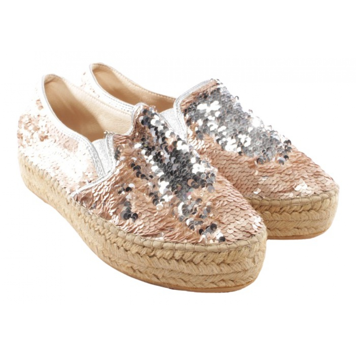 Patrizia Pepe \N Pink Leather Trainers for Women 41 EU