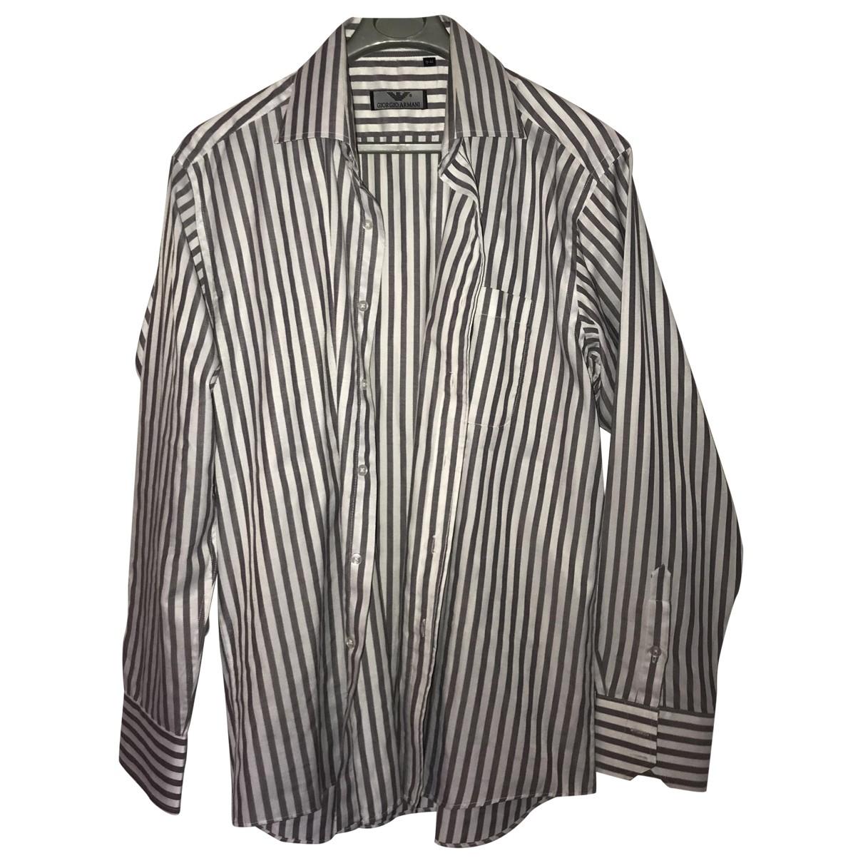 Giorgio Armani \N White Cotton Shirts for Men M International