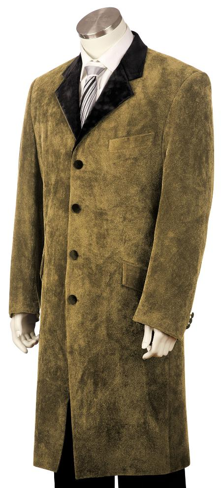 4 Button Stylish Brown Zoot Suit Mens