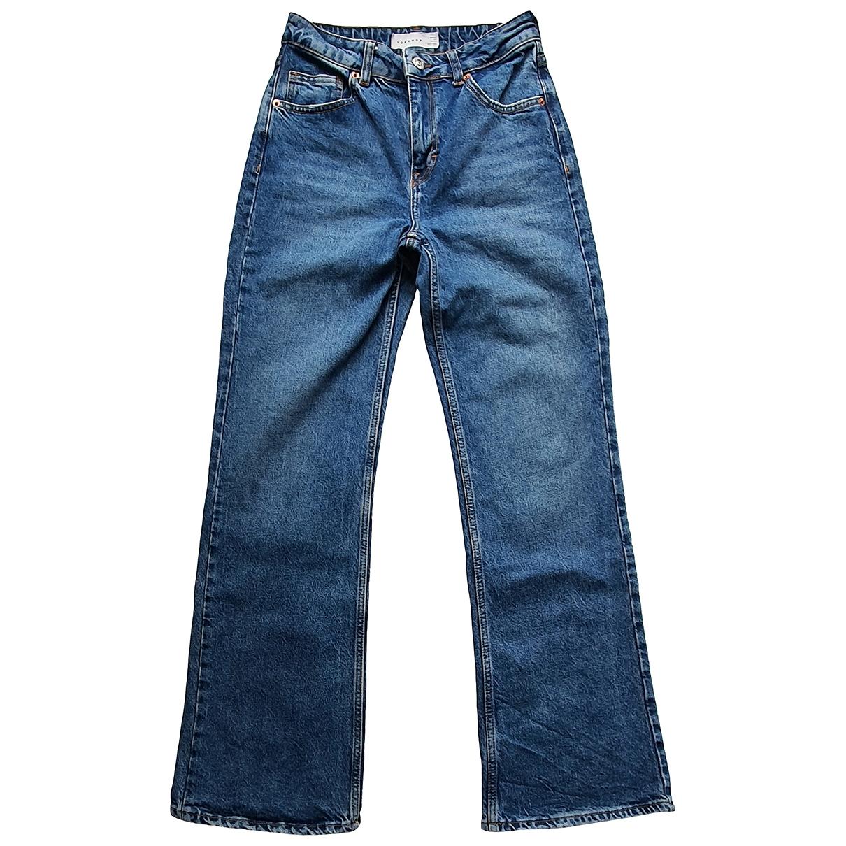 tophop \N Blue Cotton Jeans for Women 26 US