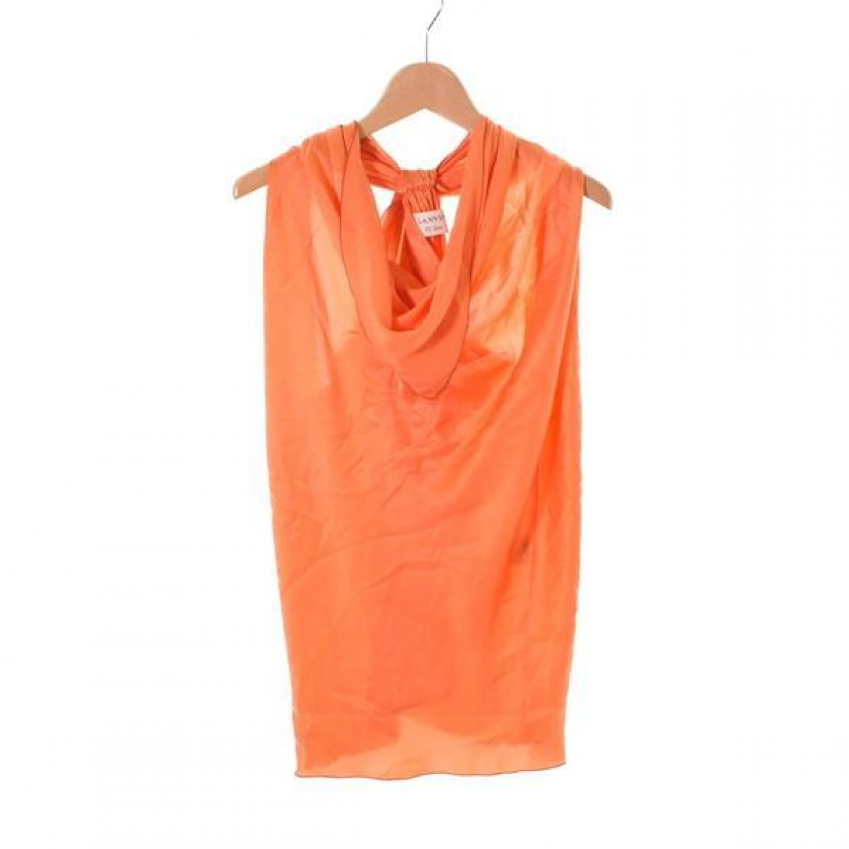 Lanvin \N Orange Silk  top for Women 34 FR