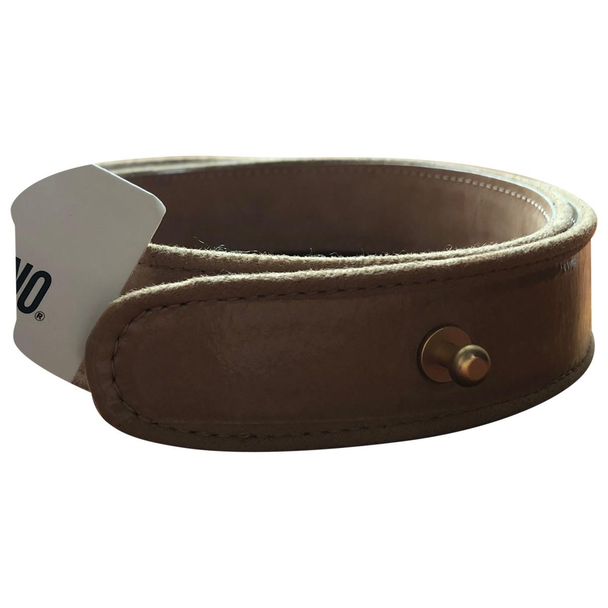 Moschino \N Camel Leather belt for Women M International