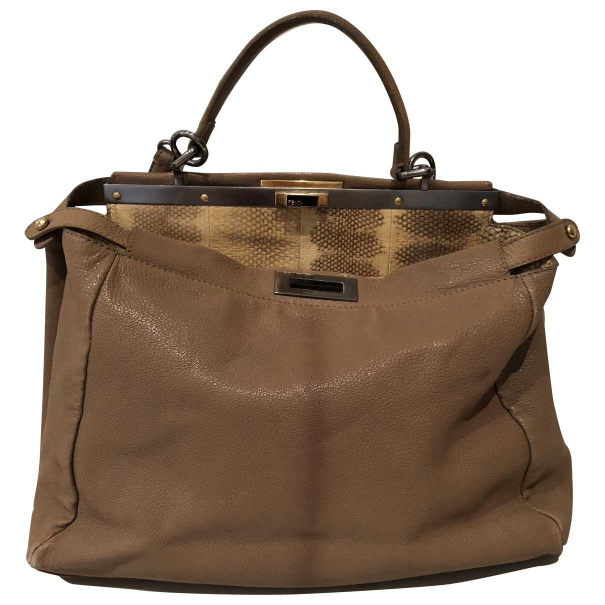 Fendi Peekaboo Camel Leather handbag for Women \N